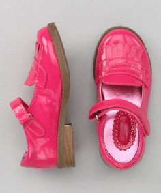 Take a look at this OshKosh B'gosh Fuchsia Heather Mary Jane by Toe-to-Toe: Kids' Shoes on #zulily today!