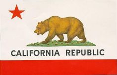 California flag - giant and antique on wall in vip, with a custom Wind Gap flag (weathervane) next to/below it