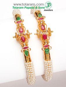 Totaram Jewelers: Buy 22 karat Gold jewelry & Diamond jewellery from India: Gold Kadas