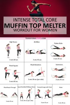 💪Intense Total Core MUFFIN TOP MELTER – Ladies! This Rapid Workout Destroys Belly Fat FAST