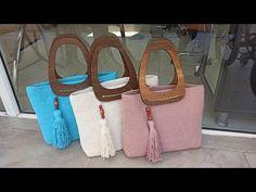 Macrame Bag, Macrame Knots, Crochet Purses, Handmade Home, Knitted Bags, Straw Bag, Diy And Crafts, Tote Bag, Knitting