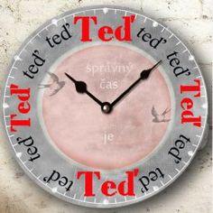 Hodiny nástěnné- TEĎ je ten správný čas, tip na originální dárek k narozeninám pro muže i ženy Mindfulness Meditation, True Quotes, Favorite Quotes, Quotations, Christmas Diy, Jokes, Clock, Wisdom, Humor