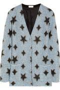 Saint Laurent|Star-patterned knitted cardigan|NET-A-PORTER.COM