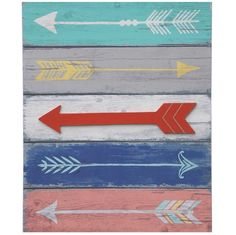 Wooden Arrows Wall Art | Arrow Decor | Decorative Arrows