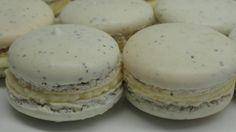 Earl Grey Tea Macarons with Honey Buttercream Filling, via YouTube. Holy smokes I want to make these! Wish I had my kitchen at home hahaha