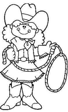 cowboy printable coloring pages - western cowboy kids colouring pictures to print and colour