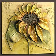 Risultati immagini per poterie raku nu Clay Wall Art, Ceramic Wall Art, Tile Art, Clay Art Projects, Ceramics Projects, Clay Crafts, Plaster Crafts, Ceramic Flowers, Clay Flowers
