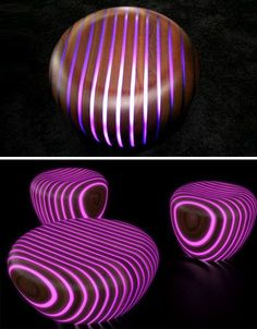 Glow in the dark chairs! how cool is this!? :) This is a must have! | Home  Decor | Pinterest | Dark, House and Future