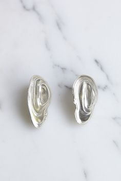 Leigh Miller Ostra Earrings in Silver | Oroboro Store | Brooklyn, New York