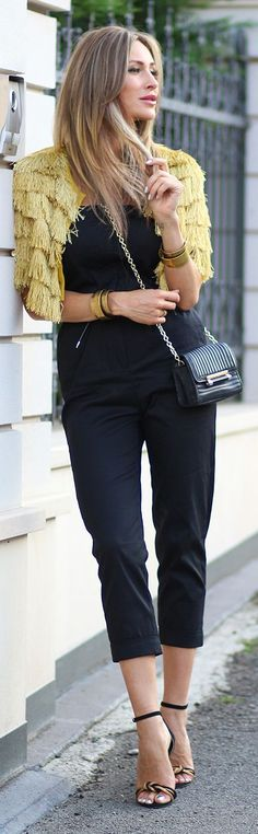 Fashion Spot Fringed Bolero Shopping Stylish Fall Outfit Idea