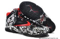 White/Black/Red Nike LeBron 11 Graffiti For Wholesale Lebron Shoes For Sale, Kobe 9 Shoes, Kd Shoes, Air Jordan Shoes, Shoes Men, Running Shoes, Nike Lebron, Lebron 11, Lebron James