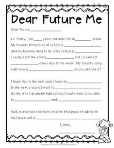 Fathers Day Crafts Discover Time Capsule Letter: Letter to Future Self: Beginning or End of Year Activity! Time Capsule Letter: Letter to Future Self:. End Of Year Activities, Learning Activities, Kids Learning, Icebreaker Activities, First Day Of School Activities, Therapy Activities, Learning Spanish, Time Capsule Kids, Time Capsule School