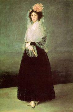 Portrait of the Countess of Carpio, Marquesa de la Solana - Francisco Goya Francisco Goya, Spanish Painters, Spanish Artists, Art Espagnole, Goya Paintings, Web Gallery Of Art, Renaissance, Louvre Paris, Free Art Prints