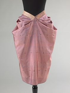 Attributed to Mainbocher | Evening apron | 1930-39 | probably French | silk, metal | Brooklyn Museum Costume Collection at The Metropolitan Museum of Art