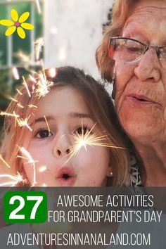 Wondering what to do for Grandparent's Day? Here are 27 Awesome activities that you can do to show and share the love. Grandkids and Grandparents need each other and here is the perfect opportunity to experience it. Senior Care Centers, Grandparents Day Activities, National Grandparents Day, Family Units, Favorite Bible Verses, Activities To Do, Family Adventure, Your Family, A Funny