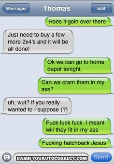 I would get an iPhone JUST to see how badly autocorrect would screw me over, hahaha. (These are hysterical!)