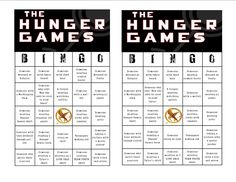 Hunger Games themed bingo is great for pre-movie fun - A unique movie night theming idea from Southern Outdoor Cinema. Hunger Games Activities, Hunger Games Party, Hunger Games Humor, Hunger Games Mockingjay, Hunger Games Trilogy, Bingo Games, Party Activities, Party Games, Divergent Party