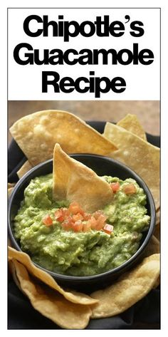 Chipotle's secret guacamole recipe is here!