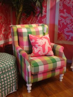 Pink & Green Chair