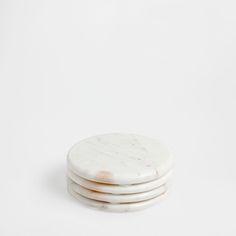 Runde Untersetzer aus Marmor (4er-Set)
