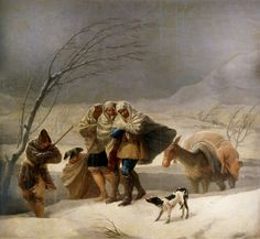 Francisco De Goya - The Snowstorm