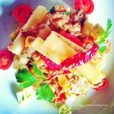 """In Cucina con Mamma Agnese: Sedani """"aldilà del piatto"""" con Ragù di Tonno e Ver..."""