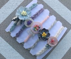5 Tieback headbands setSpring tieback by DESERTROSECOUTURE on Etsy