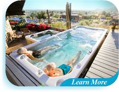 Swim Spa Prices, Outdoor Tub, Spa Jets, Hot Tub Deck, Spa Therapy, Above Ground Swimming Pools, Pool Days, Hot Tubs, Pool Designs