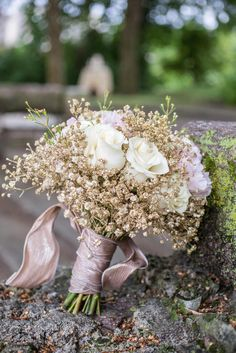 Gold Baby's Breath and Ivory Rose Bouquet Gold Bouquet, Gypsophila Wedding Bouquet, Ivory Rose Bouquet, Gold Wedding Bouquets, Bridesmaid Bouquet, Homecoming Flowers, Prom Flowers, Bridal Flowers, Rose Gold Bridesmaid