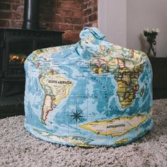 Pins & Ribbons - World Map Atlas Bean Bags