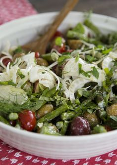 Roasted Potato Salad with Fennel, Tomatoes and Asparagus