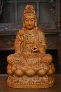 Wooden Guan Yin