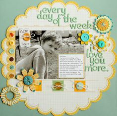 Layout I love it! cute pocket idea for a scrapbook page in the school album! Shes Got Attitude scrapbook page layout scrapbook layout Scrapbook Blog, Kids Scrapbook, Scrapbook Designs, Scrapbook Sketches, Scrapbook Page Layouts, Scrapbook Paper Crafts, Scrapbook Cards, Scrapbook Photos, Picture Layouts