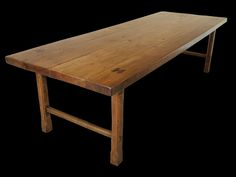 Antique Monastic French Style Table In Solid Elm