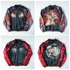 Japanese Wagara Flying Yamabushi Mountain Priest Samurai Warrior Shishi Phoenix Dragon Foo Dog Skulls Punk Sukajan Skajan - Japan Lover Me Store