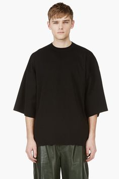 JUUN.J Black knit Oversize Numbered Jersey shirt