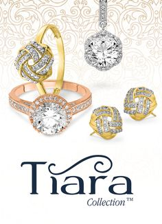 The intricate design in every mounting of the Tiara Collection™ draws attention. These wearable works of art come in 10K Gold, CZ, and gemstone styles. #QualityGold #Rings #Earrings #TiaraCollection #fashion #jewelry #CZJewelry #Gemstones #GemstoneJewelry