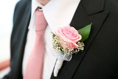 Light Pink Rose Boutonniere by Bunches Direct | Flickr - Photo Sharing!