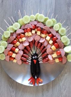fun food by ConnieRose Toddler Meals, Kids Meals, Fall Recipes, Holiday Recipes, Cute Food, Good Food, Thanksgiving Appetizers, Birthday Treats, Food Decoration