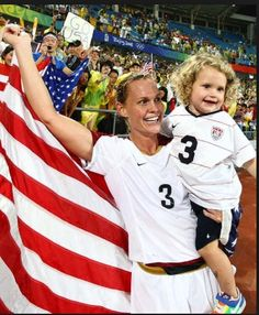 Christie Rampone and her daughter