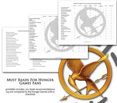 (Free) Printables for book recommendations if you enjoyed The Hunger Games
