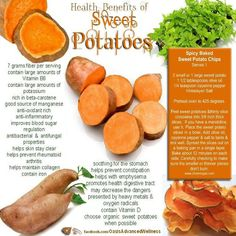 Sometimes when you get tired of eating sweet potatoes, you have to remind yourself of why it's good for your body.