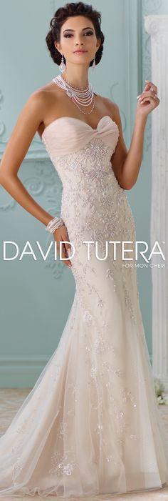 The David Tutera for Mon Cheri Spring 2016 Wedding Gown Collection - Style No. 116228 Edan #tulleweddingdresses