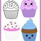 This is a FREE set of 4 cupcake themed images in color and black and white. Perfect to celebrate class birthdays!