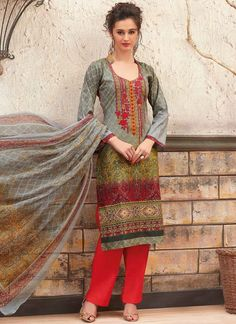 Online store to shop for salwar kameez. Available in variety of colors. Order this glowing multi colour palazzo designer salwar kameez for festival and party.