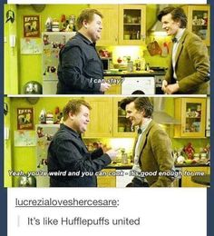 Hufflepuffs United - that sums up the awesome relationship between these two.