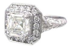 """art deco ring. I like Art Deco because they are """"flat"""". That way the setting doesn't scratch or bump on doorways"""