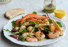 Lavender and Lovage | Easter Gourmet 5:2 Diet Recipe: Scallop and Prawn Platter with Chilli Herb Vinaigrette | http://www.lavenderandlovage.com