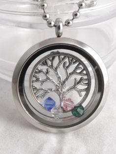 Mixed style 30mm floating memory living glass locket fit diy family tree floating charm locket necklace mozeypictures Images