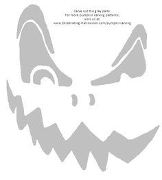 The traditional 'Jack-O-Lanterns' have their own charm. Carving cute or grotesque pumpkin faces is still the most popular form of Pumpkin Printable, Pumpkin Template, Pumpkin Carving Templates, Free Printable, Halloween Pumpkin Stencils, Halloween Pumpkins, Halloween Fun, Halloween Pictures, Scary Pumpkin Faces
